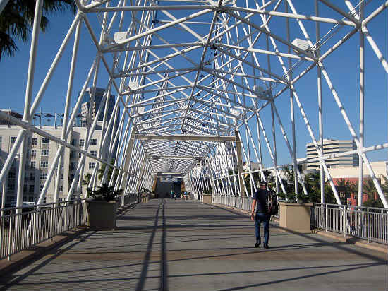 A bridge allows visitors views on foot. Photo by Pat Woods