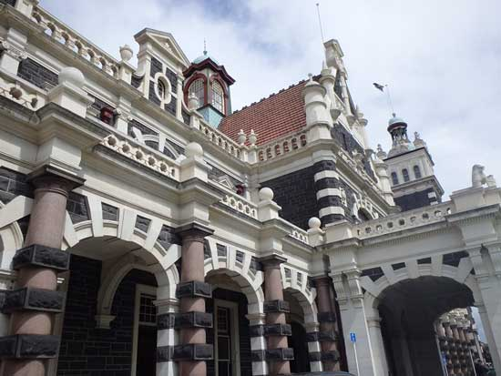 The Dunedin Railway Station is one of the most photographed buildings in New Zealand. Photo by Catherine Fancher