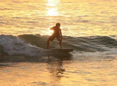 Surfing in Maui. Photo by Douglas Bowser