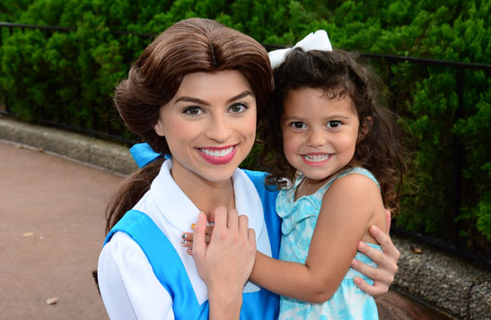 At Walt Disney World, little girls get the chance to meet many of their favorite characters in person.