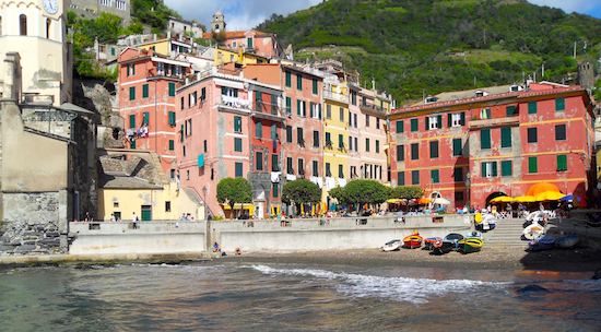 On the beaches of Vernazza, Italy