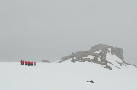 Visibility can get bad in Antarctica.