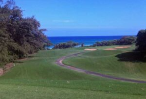 Playing the Green Links of Kauai, Hawaii