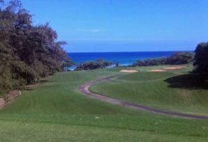 Playing the Green Links of Kauai, Hawaii