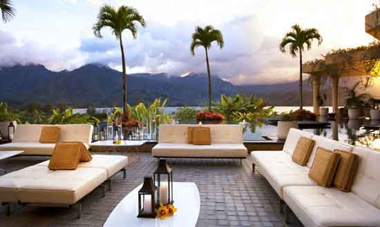 Sunset at the St. Regis Princeville, a popular place for honeymoons and weddings. Photo by St. Regis Princeville