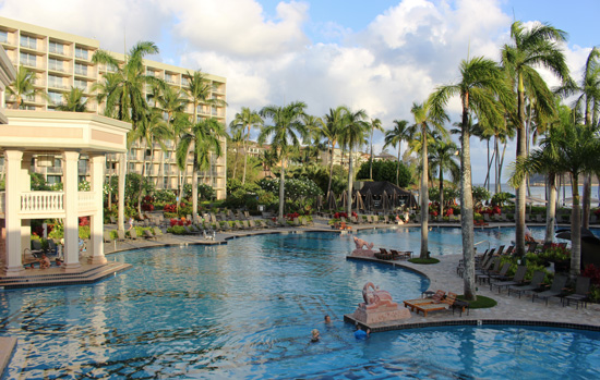 The Kauai Marriott is known for its amazing pools. Photo by Janna Graber