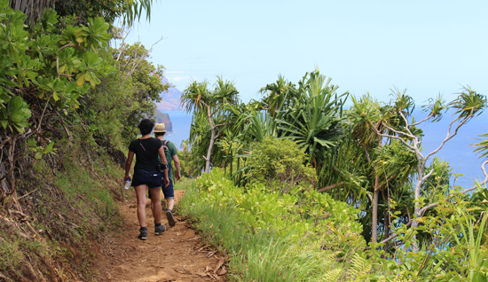 Hiking the Napali Coast is a great way to see the coastline up close. Photo by Janna Graber