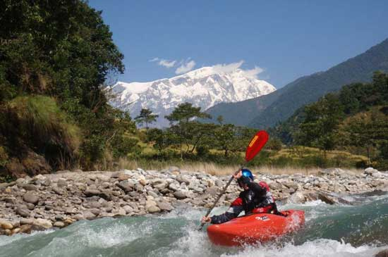 Nepal has some of the best whitewater in the world. There truly is something very magical about paddling in the shadow of the Himalayas.