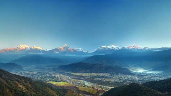 Sunrise in Pokhara, Nepal. Flickr/Dhilung Kirat
