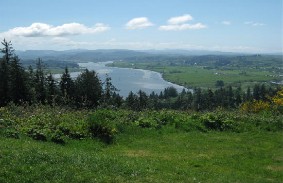 Astoria Hill offers great views of Oregon.