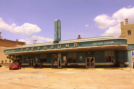 This Greyhound Station dates back to 1938.