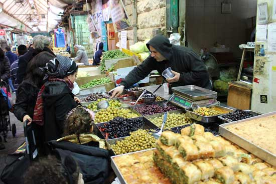 Visiting a shuk is a good way to experience the cuisine. Photo by Janna Graber