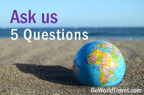 Curious about a destination or location you'd like to visit? Send us your questions!