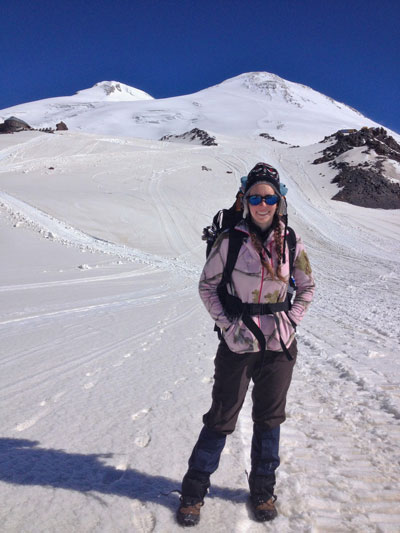 Victoria on Mt. Elbrus