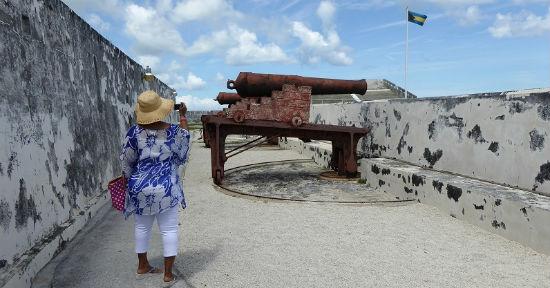 Fort Charlotte overlooks Nassau Harbor.
