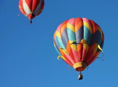 Hot air ballooning in Taos, New Mexico