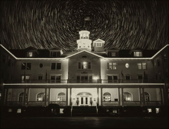 The Stanley Hotel can get a little spooky at night.