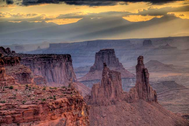 Canyonlands National Park, At sunset in Canyonlands, the sky almost looks like a painting. Flickr/John Fowler
