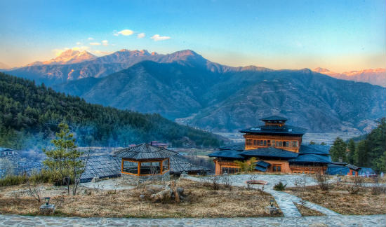 Bhutan's stunning scenery is one of its many draws.