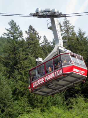 Grouse Mountain is popular for hiking.