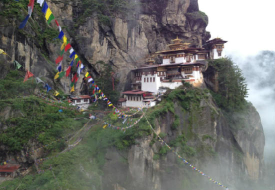 The Tiger's Nest can be reached by hiking.
