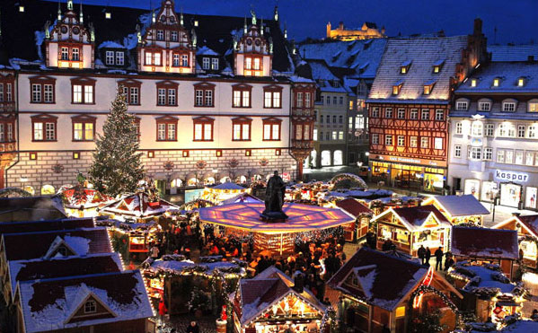 The Coburg Christmas Market in Germany. Photo by GNTO