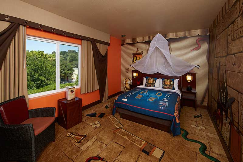 An adventure-themed room at LEGOLAND Hotel. Photo courtesy LEGOLAND Hotel