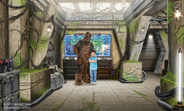 Star Wars Launch Bay will feature special exhibits.