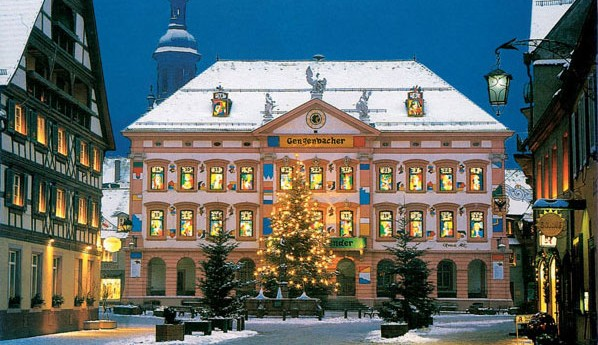 The town hall in Gengenbach is a life-size advent calendar. Photo by GNTO