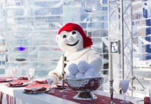 Bonhomme at the Quebec Winter Carnival