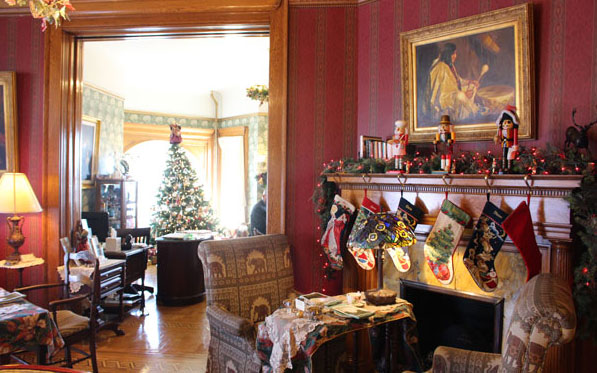 Ready for the Holiday Afternoon Tea at Nagle Warren Bed & Breakfast. Photo by Janna Graber