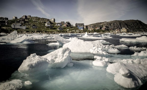 A local village in Greenland. Photo by VisitGreenland.com
