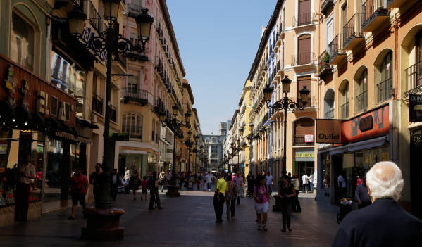 The streets in Zaragoza bustle with life as tourism increases. Travel Zaragoza Spain
