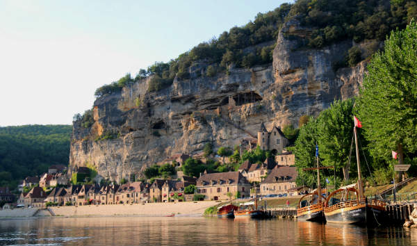 Rafting in France. Floating lazily down a river in France can offer amazing views.