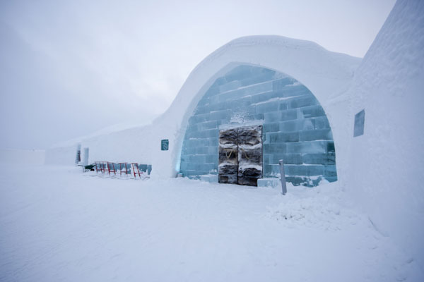 The ICEHOTEL in Sweden is rebuilt each year in a unique design. Photo by Martin Smedsén, icehotel.com