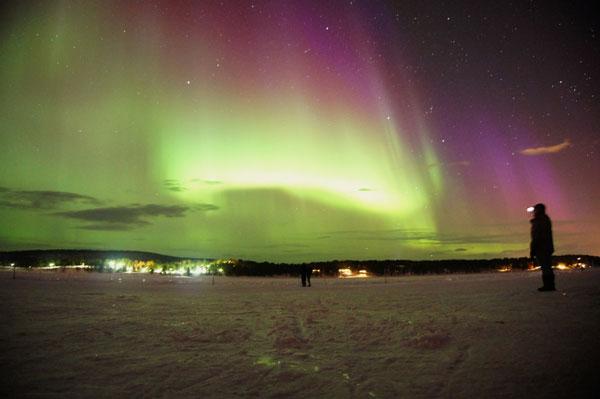 Northern Lights in Jukkasjärvi. Photo by Kristian Mattiasson, icehotel.com