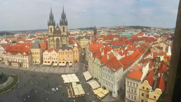 A view of Prague from above. Photo by Paula Naoufal