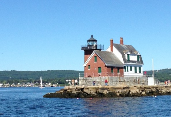 Sailing through the islands of Maine. Photo by Janna Graber