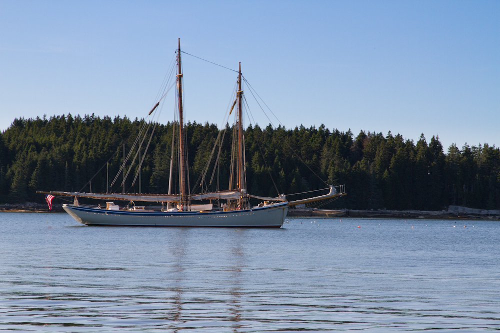American Eagle at anchor. Photo by Ben Rader