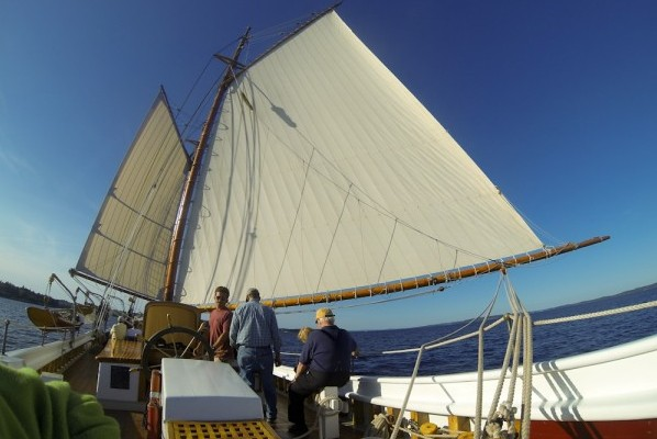 Getting the American Eagle ready to sail. Photo by Ben Rader