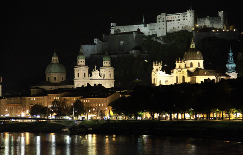 Salzburg at night. Photo by Benjamin Rader