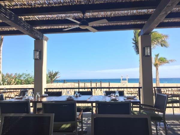 Beachside dining at Hyatt Ziva Los Cabos. Photo by Janna Graber