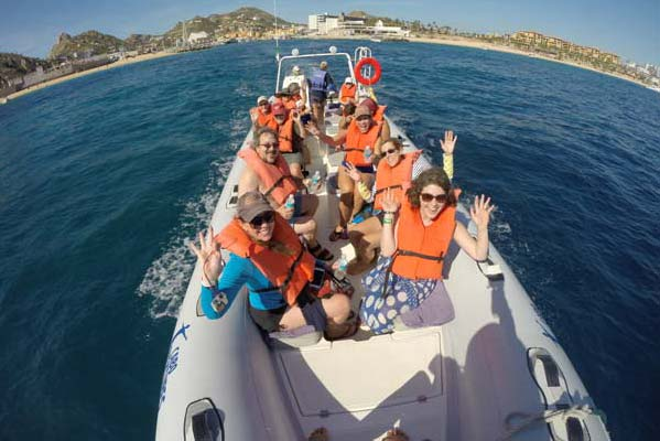 Our group obviously had a great time during our snorkeling adventure. Photo by Cabo Adventures