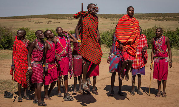 Travel in Kenya - Young Maasai boys in Kenya.