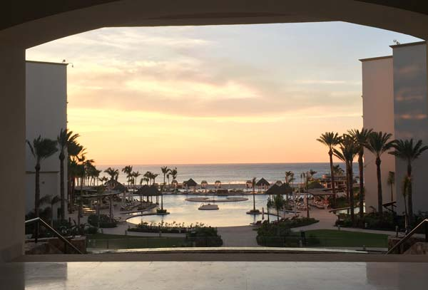 Morning sunrise at Hyatt Ziva Los Cabos. Photo by Janna Graber