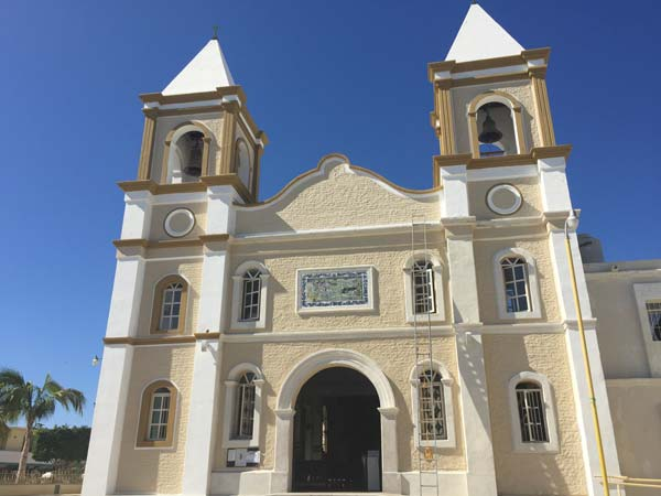 Visiting the church in San Jose del Cabo. Photo by Janna Graber