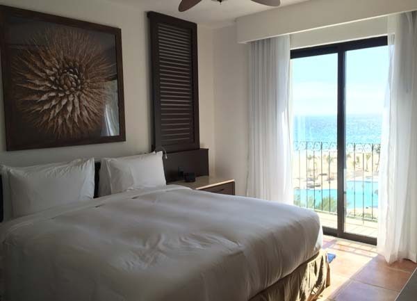 Soft bed and luxury bedding at the Hyatt Ziva Los Cabos. Photo by Janna Graber
