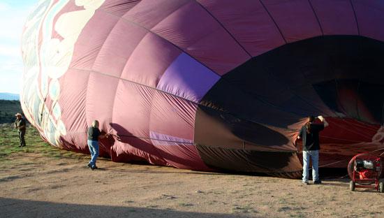 Hot air balloon festival in Taos