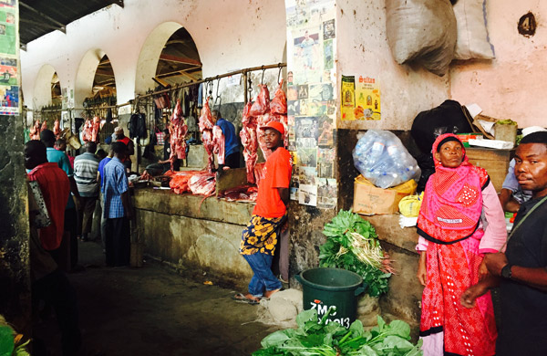 City market vendors in Zanzibar. Photo by Stone Town in Zanzibar. Photo by Sherrill Bodine