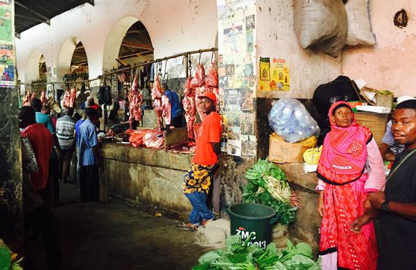 City market vendors in Zanzibar. Photo by Stone Town in Zanzibar. Photo by Sherrill Bodine